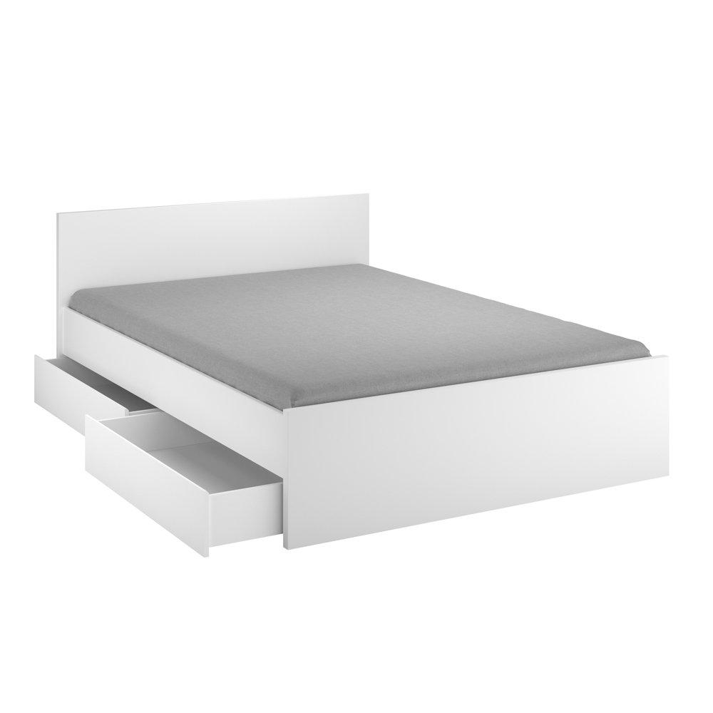 INFINIKIT Haven Bett, 140 x 200 cm, mit Schubladen, Weiß: Amazon.de ...