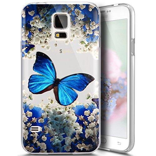 for Samsung Galaxy S5 Case, PHEZEN Elegant Blue