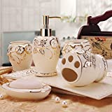 GTVERNH-Recipients Of The Gift Rose Ceramic Bath 5 Piece Kit Bluetooth Is Vanity Bathroom Kit Get Married On The Move Toiletries