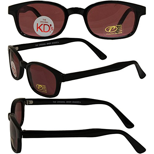 Original KD's Biker Sunglasses with Rose Colored - S Sunglasses Kd