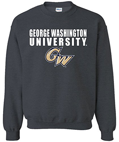 (NCAA George Washington Colonials Bars Logo Crewneck Sweatshirt, X-Large,DarkHeather)