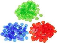 T TOOYFUL 300 3/4 Inch Translucent Bingo Chip Pieces for Bingo Game Card Pieces