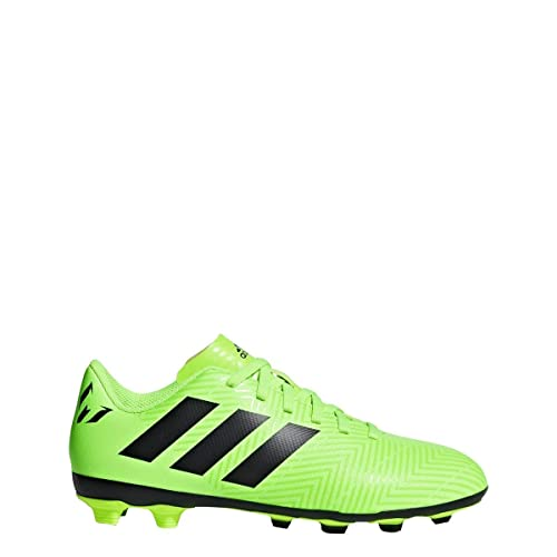 cf8dabcf adidas Kids' Nemeziz Messi 18.4 FxG Soccer Cleats (2.5, Solar Green/Black