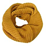 Wrapables Thick Knitted Winter Warm Infinity Scarf, Yellow