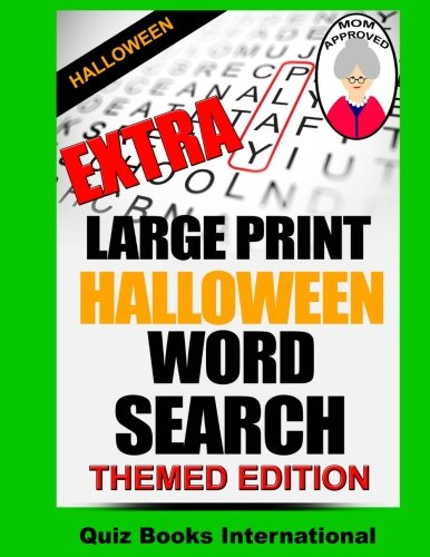 Extra Large Print Halloween Word Search -