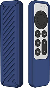 2021 Remote Case for Apple Siri Remote (2nd Gen), Protective Anti-Slip Durable Silicon Shockproof Rubber Cover for Apple 4K HD TV Siri Remote (2nd Generation) (Blue)
