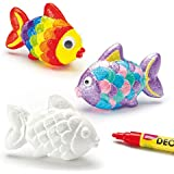Pesci in Polistirolo per Bambini da Dipingere e Decorare per Creazioni Fai Da Te in 3D (confezione da 6)