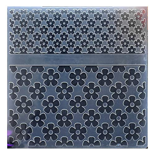 (Kwan Crafts Flowers Plastic Embossing Folders for Card Making Scrapbooking and Other Paper Crafts, 15x15cm )