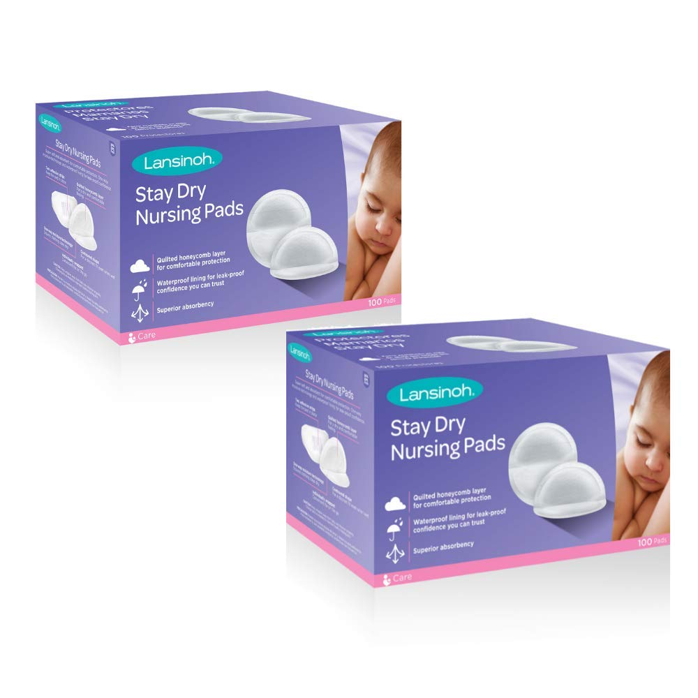 Lansinoh Stay Dry Disposable Nursing Pads for Breastfeeding, 200 count by Lansinoh