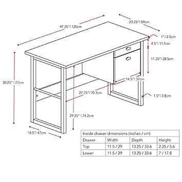CorLiving WFP-480-D Folio Desk, Rich Espresso