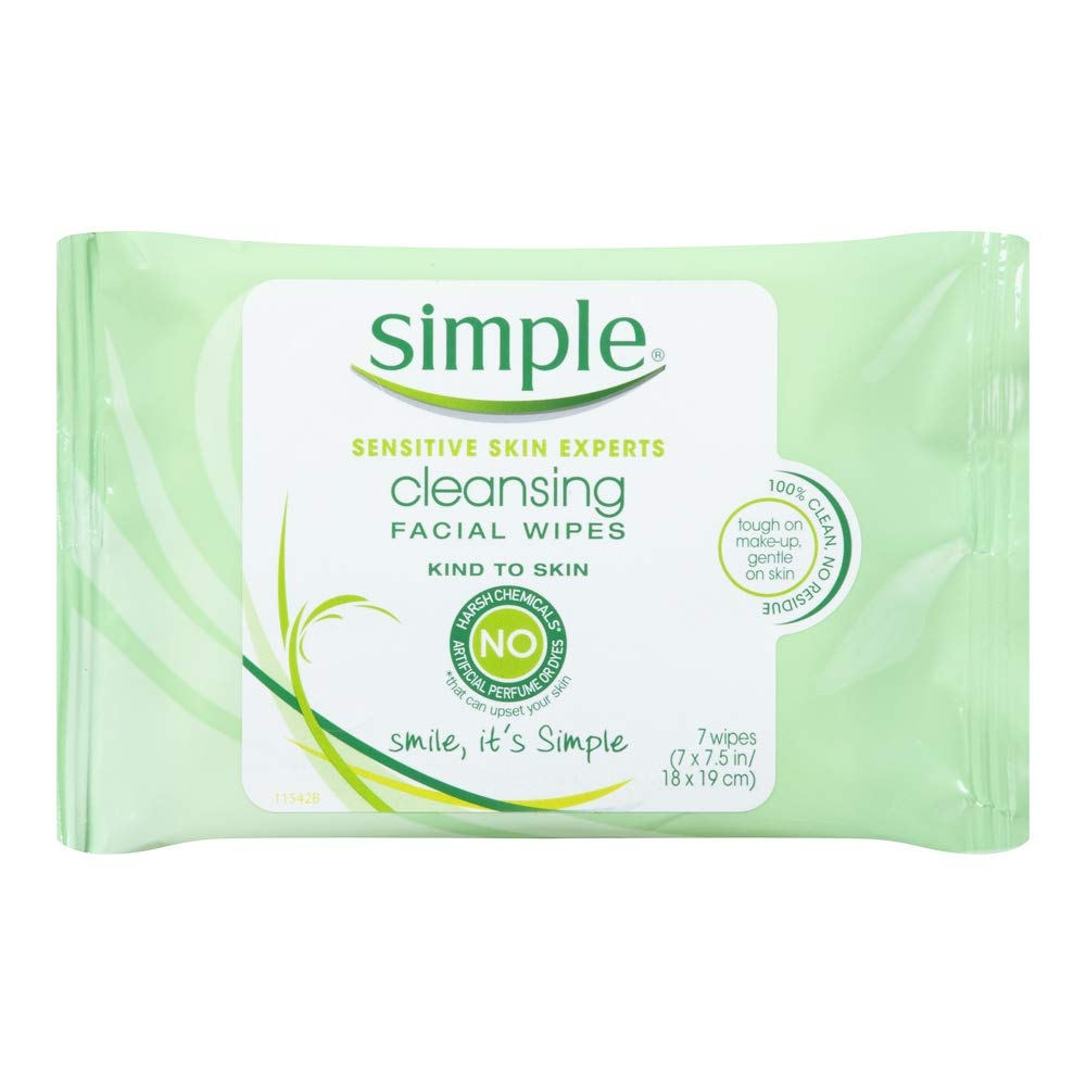 Simple Cleansing Facial Wipes 7 Count (6 Pack)