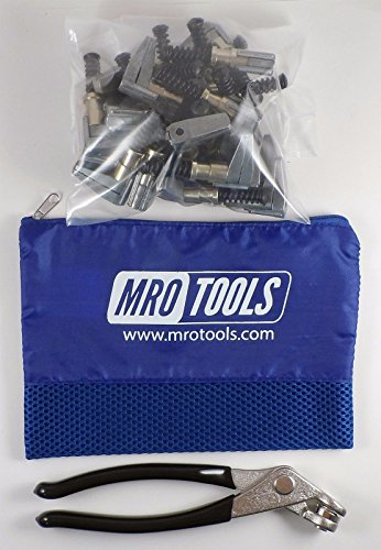 co Side-Grip Clamps (SET OF 25) + Cleco Pliers w/Carry Bag ()