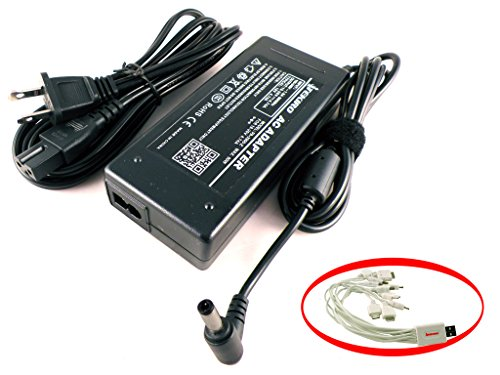 iTEKIRO 90W AC Adapter for Toshiba Satellite S55t-B5158, S55t-B5335, S55t-C5322, S55t-C5324-4K, S55t-C5325-4K, S55t-C5327-4K, S55t-C5370-4K, S70-BST2NX2, S70T-BST2GX4 + 10-in-1 USB Cable - Toshiba Satellite Usb