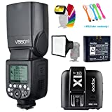 Godox V860II-O TTL GN60 2.4G High-Speed Sync 1/8000s Li-ion Battery Camera Flash Speedlite+Godox X1T-O Wireless Trigger Transmitter for Olympus Panasonic+15x17cm Softbox & Filter +USB LED Free gift