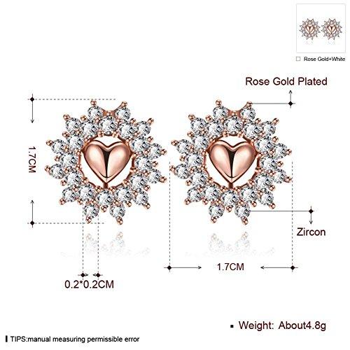 Green Earrings Heart Shape Stud Earrings Ladies Earrings