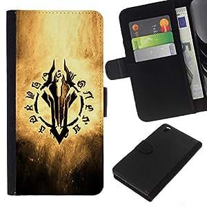 All Phone Most Case / Oferta Especial Cáscara Funda de cuero Monedero Cubierta de proteccion Caso / Wallet Case for HTC DESIRE 816 // Fantasy Game Writing