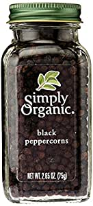 Simply Organic Peppercorn Black Organic Bottle, 2.65 oz