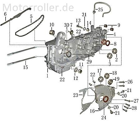 Xfight-Parts Entl/üftungsschlauch Getriebeentl/üftung 8x4.3mm 152QMI 16615-120-000 f/ür CPI Oliver 125