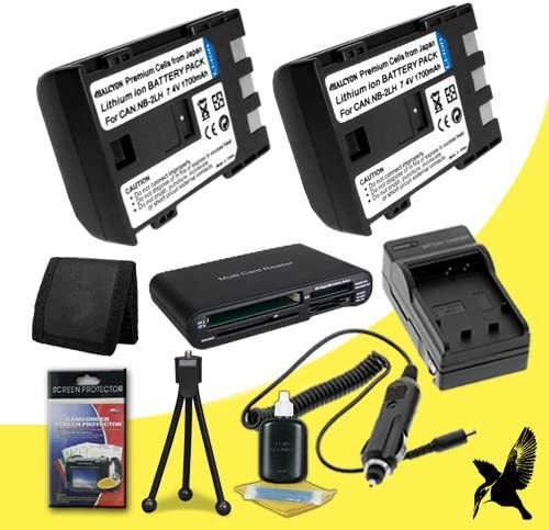Deluxe Starter Kit for Canon Rebel XTi 10.1MP Digital Camera and Canon NB-2LH Canon Rebel XTi 10.1MP Digital Camera and Canon NB-2LH Memory Card Wallet Two Halcyon 1700 mAH Lithium Ion Replacement NB-2LH Battery and Charger Kit SDHC Card USB Reader