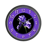 CafePress – Purple Iris – Unique Decorative 10″ Wall Clock Review