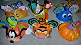 Disney Set of 6 Miscellaneous Ears style Ornaments
