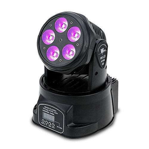 Lixada 100W DMX-512 Mini Moving Head RGBW 9/14 Kanäle AC 100-240V Sound aktiv