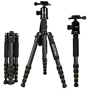 Zomei Professinal Magnesium Aluminium Tripod with Ball Head Pocket Travel for DSLR