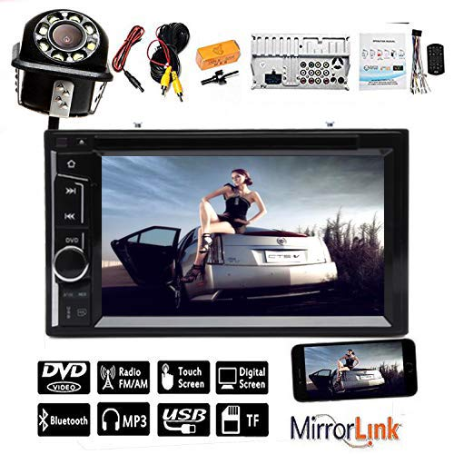 6.2 inch HD Digital Touch Screen Radio Car Stereo for 2007-2011 Nissan Altima and Car Back Up Camera CD DVD Radio Bluetooth in Dash AUX USB Mirrorlink Steering Wheel Control Function (Stereo Altima Nissan)