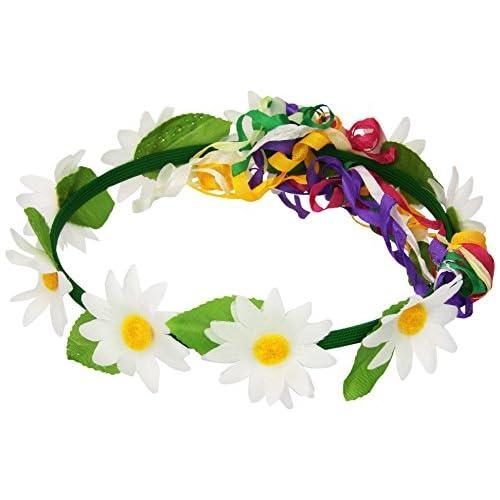 Widmann AC0455 - Couronne hippie fleurie assortie