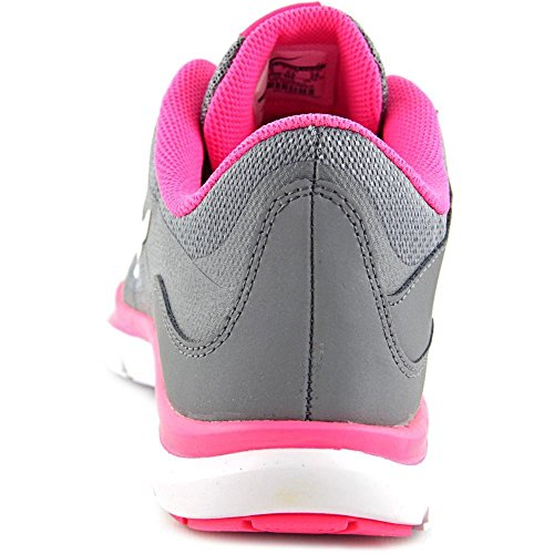Nike Womens Flex Trainer 5 Running Shoe, Cool Grey/White/Pink Pow/Dark Grey - 8.5 B(M) US