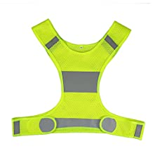 Docooler Lightweight Reflective Vest Safety Vest for Men & Women Outdoor Running Cycling
