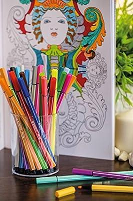 STABILO Pen 68 30er Premium Filzstifte 30 farbsortiert Fasermaler Malstifte Set