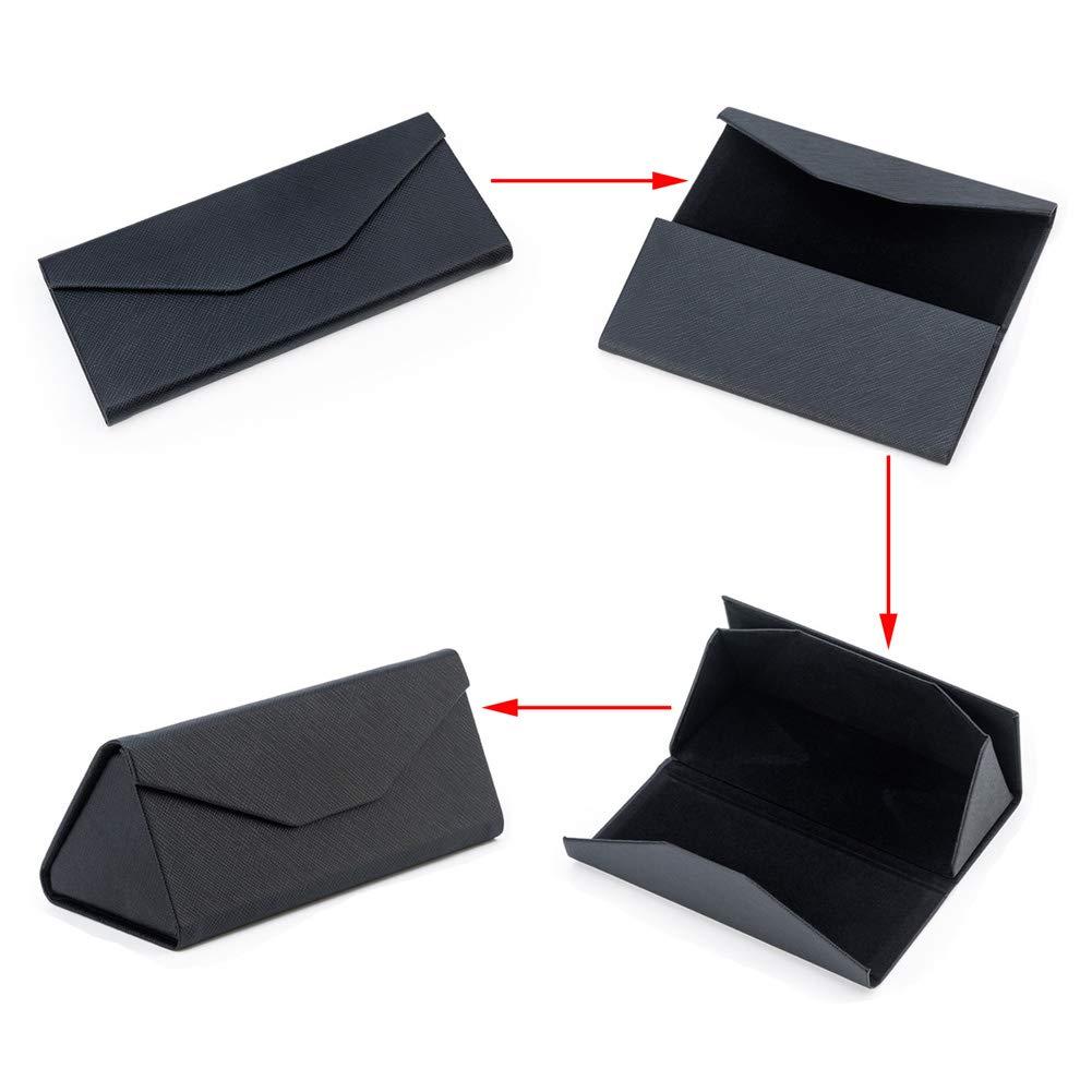 Kit de herramientas para gafas paquete de 7 gamuza de microfibra para limpieza de gafas destornillador llavero funda r/ígida plegable para gafas