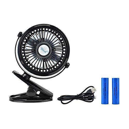 clip-on usb fan wuudi battery operated mini desk fan for car