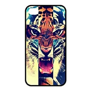 iPhone 4 4S Case,Tiger Roar Cross Hipster Quote Jesus Christ Cross Combo Hign Definition Wonderful Design Cover With Hign Quality Rubber Plastic Protection Case