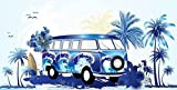 ShawsDirect Velour Beach Towel - Blue Caravan - Free P&P
