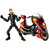 "Marvel Legends Series 7 Classic Ghost Rider Action Figure with Flame Cycle (Ghost Rider 7"" tall; Flame Cycle 9"" Long)"