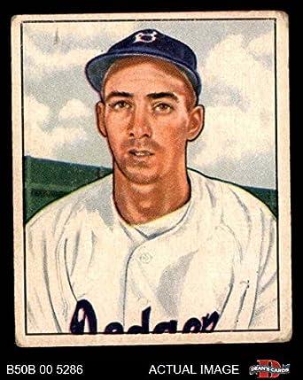 Amazoncom 1950 Bowman 194 Cr Billy Cox Brooklyn Dodgers
