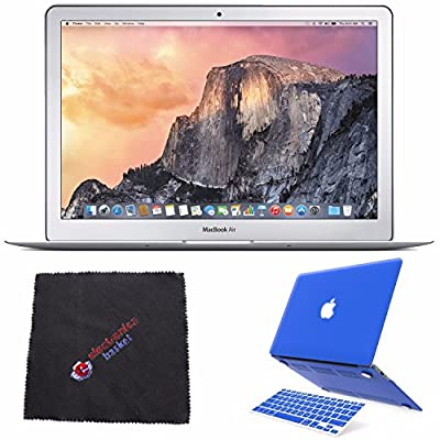 "Apple 13.3"" MacBook Air Laptop Computer MMGF2LL/A + 2 in 1 Soft-Touch Plastic Hard Case & Silicone Keyboard Cover for Apple Macbook Air 13-inch 13"" (Royal Blue) & MORE Bundle Kit"