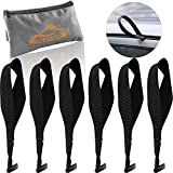 6 PCS Rooftop Cargo Tie Down Hooks - Cardoor Water Leakage Prevention Fit Most Car for Securing Luggage, Camping Gear, Cargo Bag with a Storage Bag