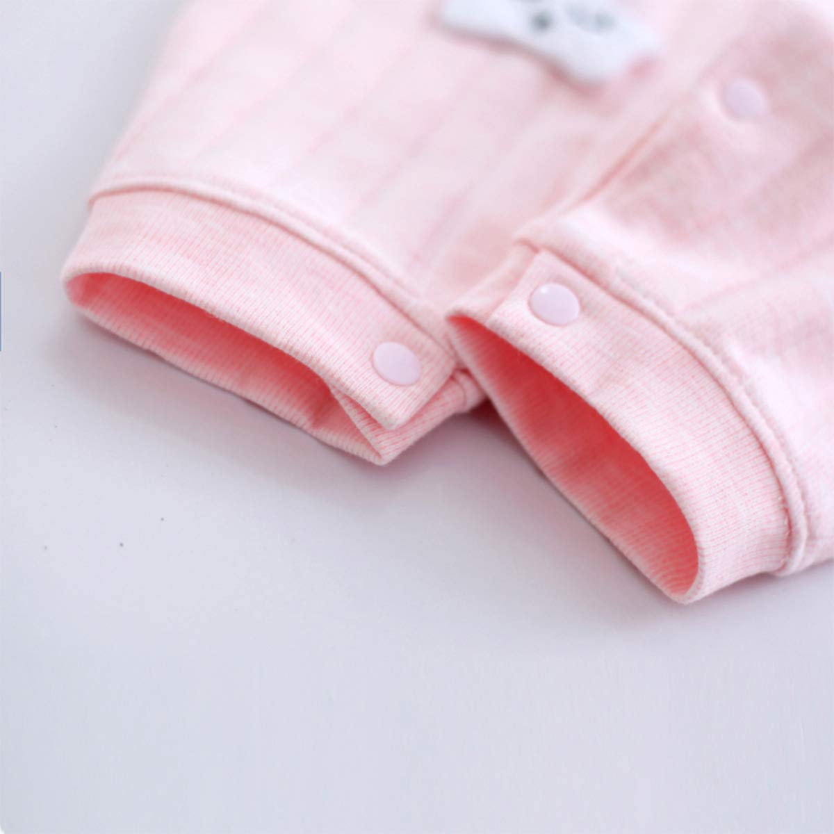 Baby Girls Boys Romper Long Sleeves Lapel 100/% Cotton Snap-Front Design