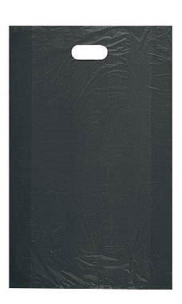Large High Density Black Plastic Merchandise Bags - Case of 1,000