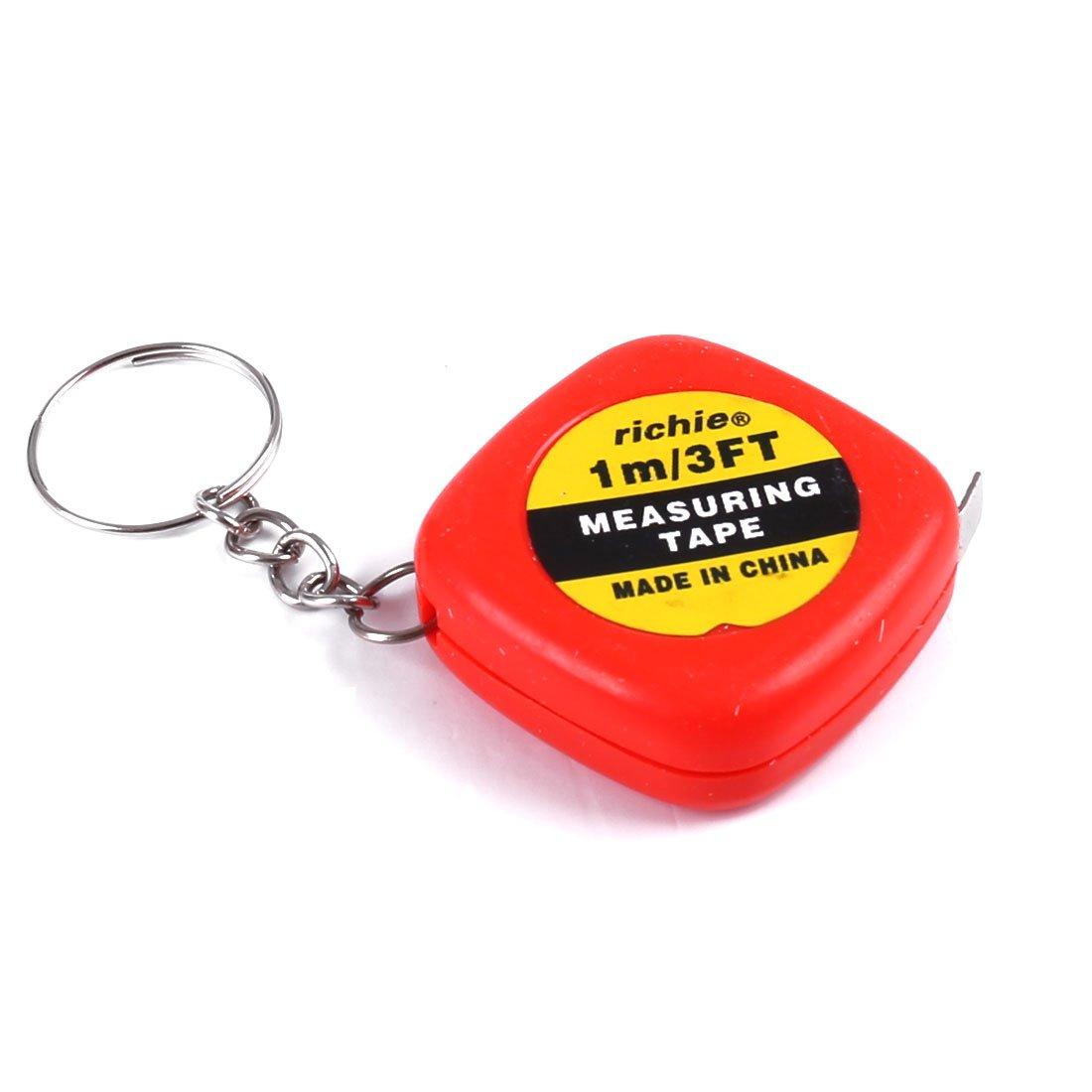 Rojo medir 1 Meter 91,44 cm w Mini llavero cinta métrica ...