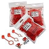 Boeray 350pcs M6 M8 M10 Red Polyethylene Plastic Dust Cover Cap Cover Assortment Kits for Oil Grease Gun Zerk Fitting