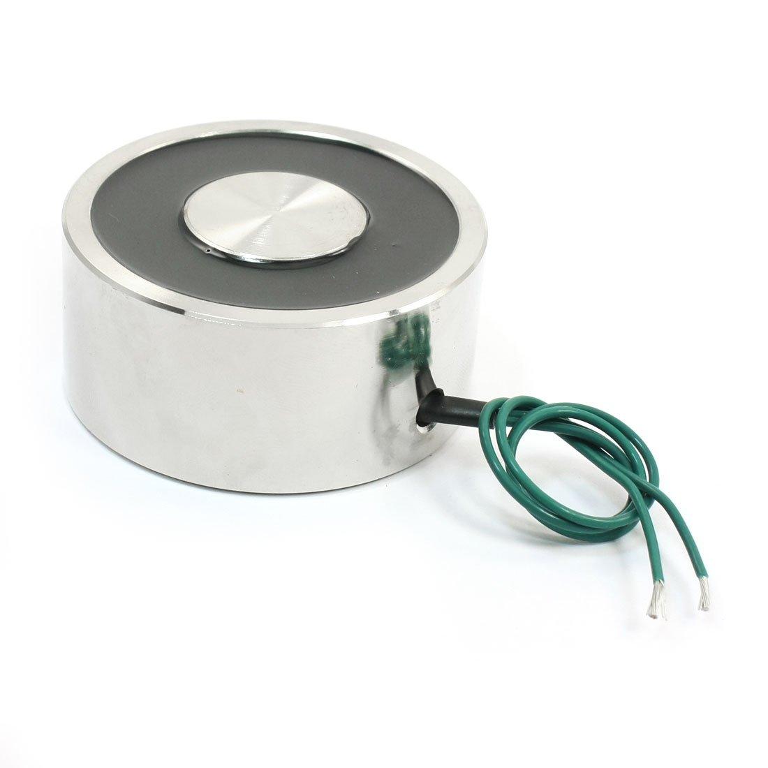 uxcell 80Kg//176Lb 8mm Thread Dia Lifting Magnet Electromagnet Solenoid DC12V