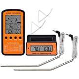 Jenify Wireless Receive BBQ Thermometer Electronic Digital Food Thermometer Remote Control Double Probe Oven Meat Warm Needle Steak Chicken Portable