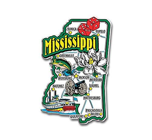 Mississippi State Jumbo Map Magnet