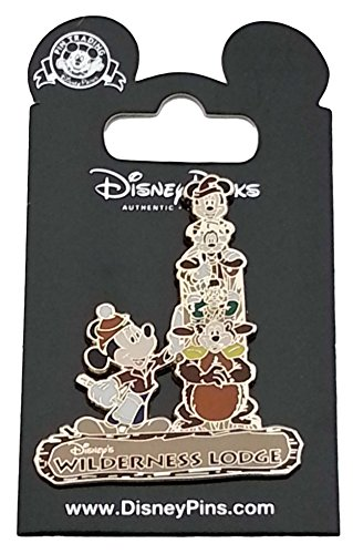 Disney Pin - WDW Wilderness Lodge - Character Totem Pole