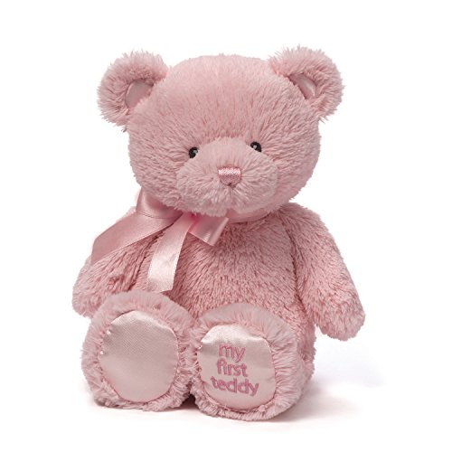 Baby GUND My First Teddy Bear Stuffed Animal Plush, Pink, 15