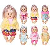 Huang Cheng Toys Set of 6 Doll Clothes for 12 Inch Doll Dress Clothes Outfits Costumes Gown Doll Accessories Clothing Handmade